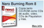 Descargar programa Grabador de Cds: Nero Burning Rom 8