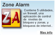 Descargar Zone Alarm - Programas gratis. Software de seguridad para internet. Pc y mac